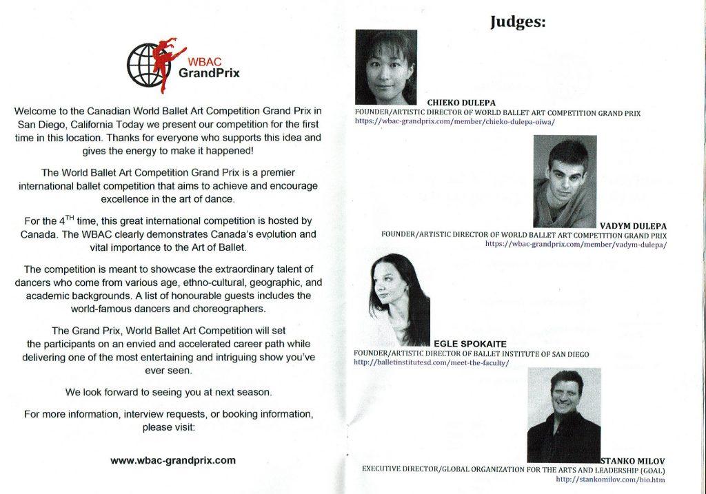 WBAC Gran Prix judges